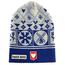 Beanie for kids Holland winter in blue made in Holland