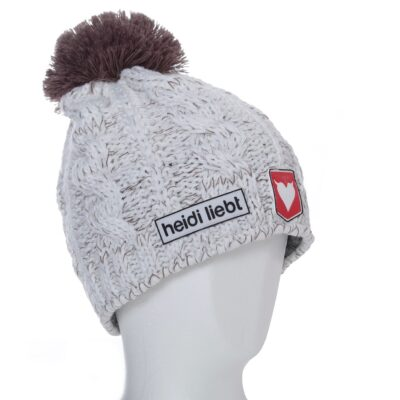 Heidi Liebt Cable beanie WoolWhite Taupe made in Holland